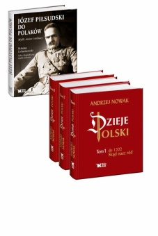 PAKIET Dzieje Polski tom 1-3 + Do Polaków. Myśli, mowy i rozkazy w cenie 230 zł