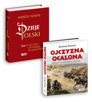 """""""Dzieje Polski: t. 2 + """"Ojczyzna ocalona"""": cena pakietu 105 zł"""