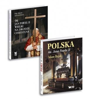 PAKIET książek Św. Jan Paweł II Wielki na drodze Chrystusa + Polska św. Jana Pawła II