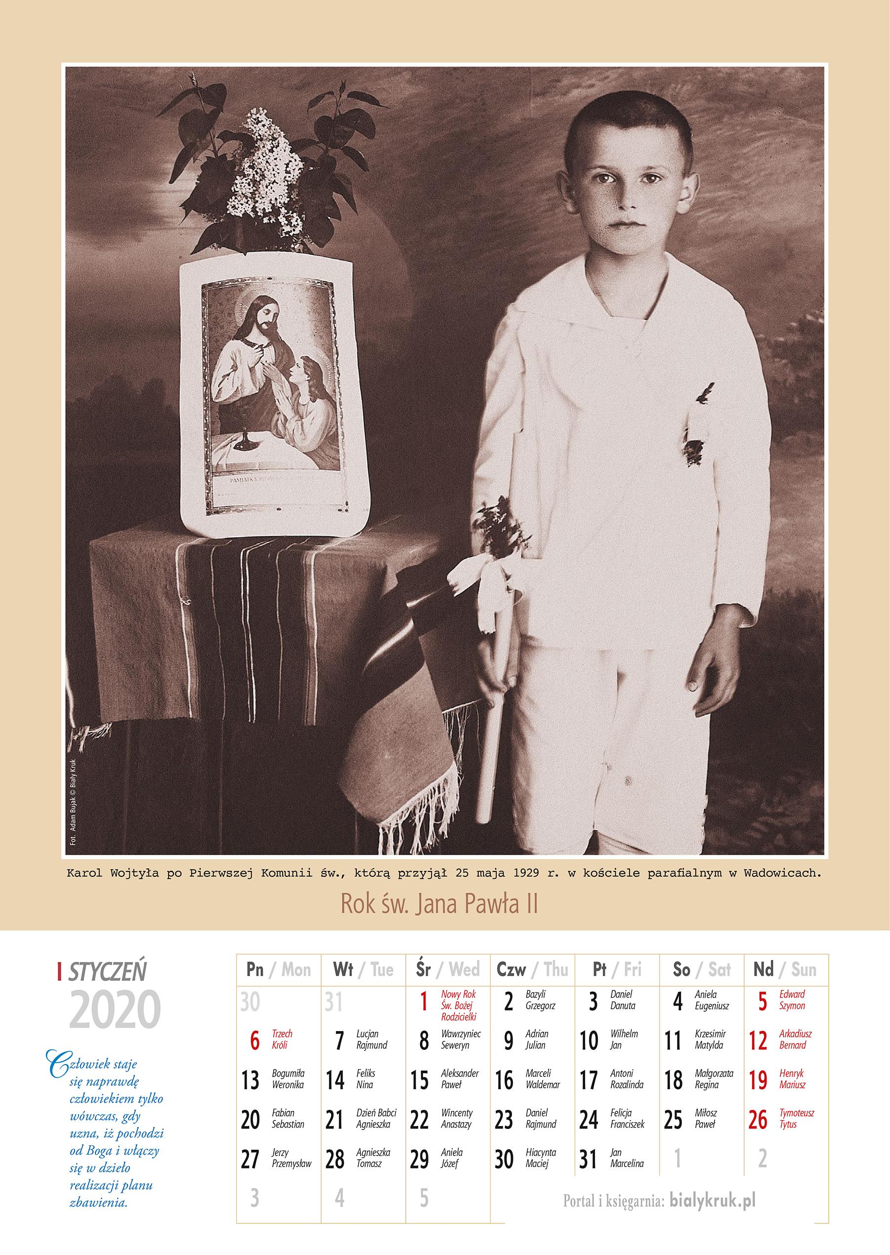Kalendarz papieski 2020