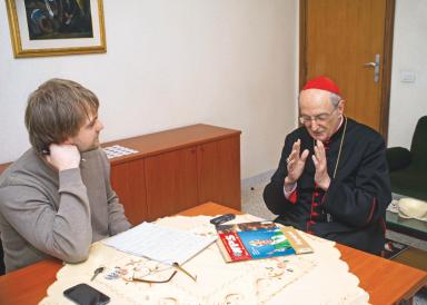 Ta rozmowa z kard. Meisnerem została przeprowadzona 9 marca 2013 r. w Rzymie przez red. Adama Sosnowskiego. Dwa dni później kard. Meisner wziął udział w konklawe, które wybrało papieża Franciszka. Fot.: Michał Klag