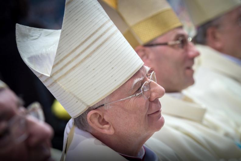 Abp Marek Jędraszewski podczas Mszy św. na Skałce. Fot. Marcin Mazur/episkopat.pl