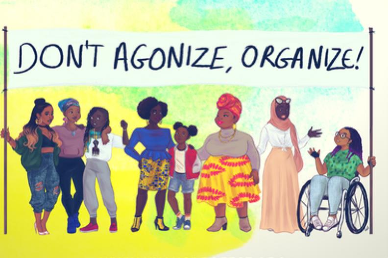 Plakat promujący ogólnoeuropejski festiwal afroamerykańskich feministek. Plakat znajduje się na oficjalnej stronie festiwalu: nyansapofest..wordpress.com