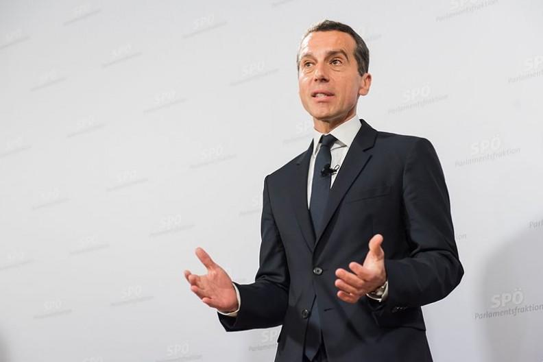 Christian Kern, austriacki menager i polityk. Od 17 maja 2017 roku pełni funkcje Kanclerza Austrii.  Fot.:SPÖ Presse und Kommunikation, 2.0 Generic/Wikimedia Commons