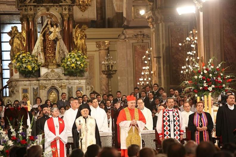 Spotkanie ekumeniczne przywódców Kościołów w Hiszpanii w 2009 roku.   Fot.:  Eduardo Frei Ruiz Tagle/Wikimedia Commons