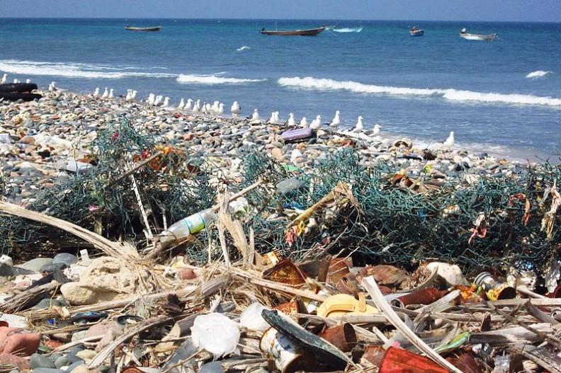 Plastikowe odpady stanowią globalny problem. Zanieczyszczają nie tylko glebę, ale i wody oceaniczne.   Fot.: Gerry & Bonni/Wikimedia Commons