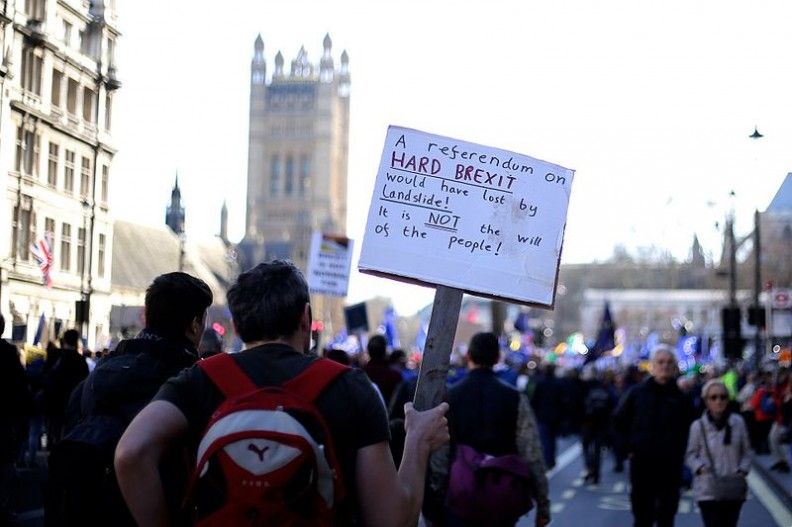 Marsz przeciwko Brexitowi.     Fot.:Ilovetheeu/4.0 International/Wikimedia Commons