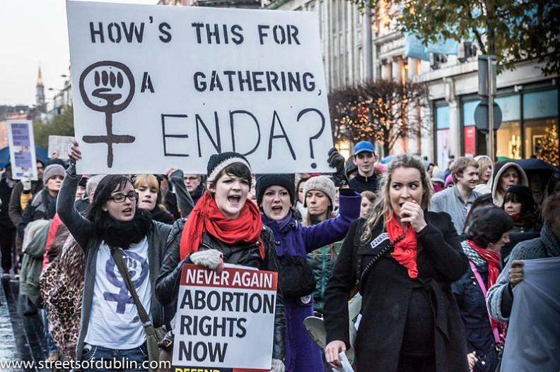 Protest zwolenniczek aborcji w Dublinie.   Fot.: William Murphy/ 2.0 Generic/Wikimedia Commons