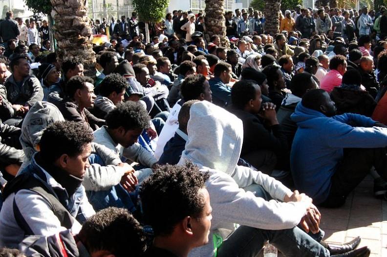 imigranci z Afryki w Izraelu.    Fot.:Rudychaimg/4.0 International/Wikimedia commons