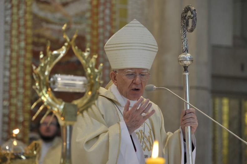 Metropolita krakowski, abp Marek Jedraszewski.   Fot.: Adam Bujak