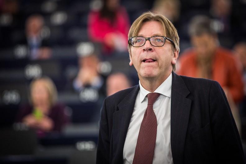 Były premier Belgii i brukselski liberał Guy Verhofstadt. Fot.: Claude Truong-Ngoc / Wikimedia Commons - cc-by-sa-3.0