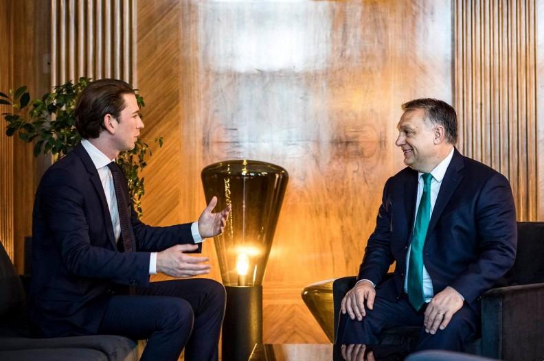 Kanclerz Austrii Sebastian Kurz i premier Węgier Viktor Orban. Fot.: Facebook Viktor Orban