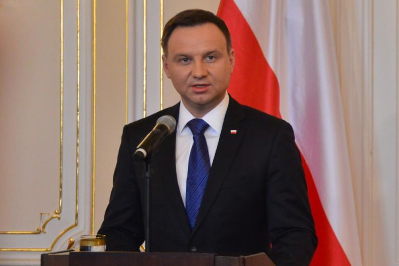 Prezydent Andrzej Duda podczas przemówienia. Fot.: Adam Sosnowski