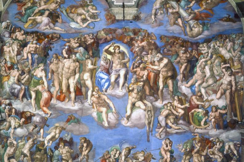 Sąd Ostateczny autorstwa Michała Anioła w rzymskiej Kaplicy Sykstyńskiej. Fot.: z albumu