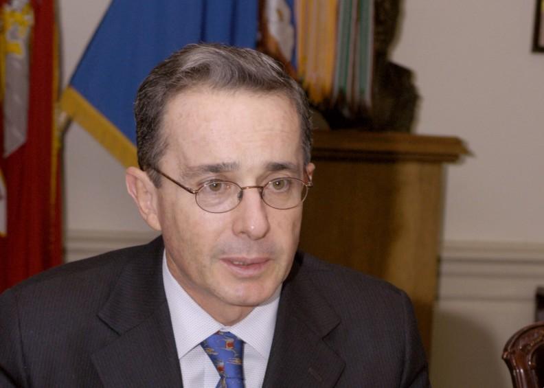 Álvaro Uribe polityk konserwatywnej partii Centro Democrático.  Fot.: Public domain.