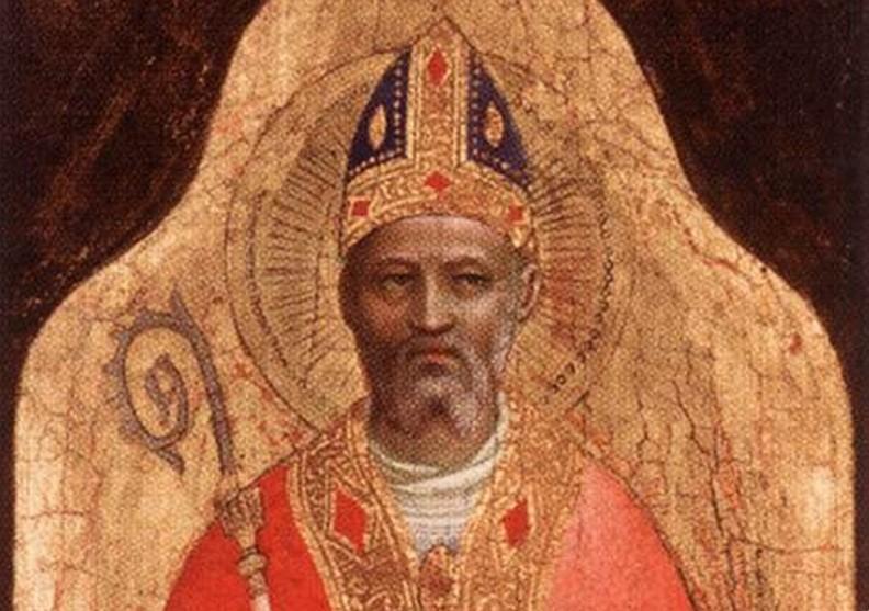 Fragment obrazu Fra Angelica, Święty Mikołaj. XV w. Public domain.