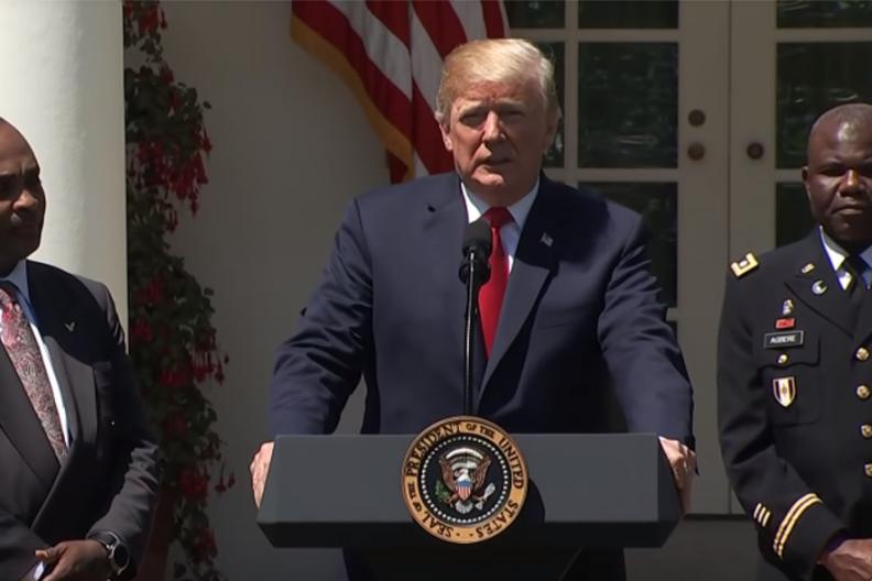Prezydent Stanów Zjednoczonych Ameryki Donald Trump na Narodowym Dniu Modlitwy w USA. / Źródło: CNBC / YouTube