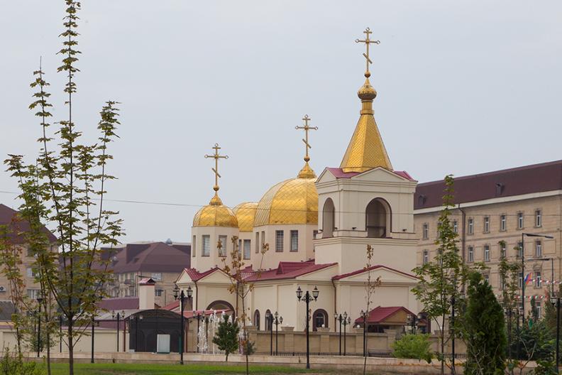 Cerkiew św. Michała Archanioła w Groznym. Fot.: Wikimedia