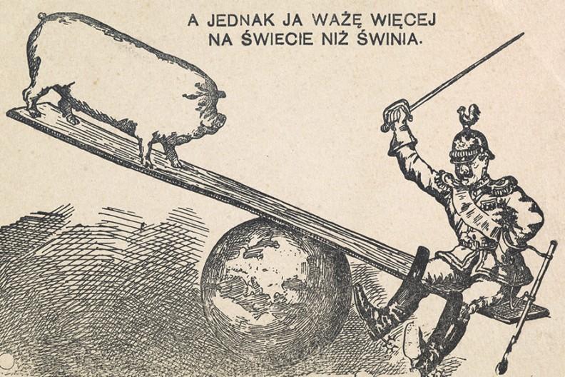 Pocztówka - karykatura polityczna, Warszawa : Wydawnictwo