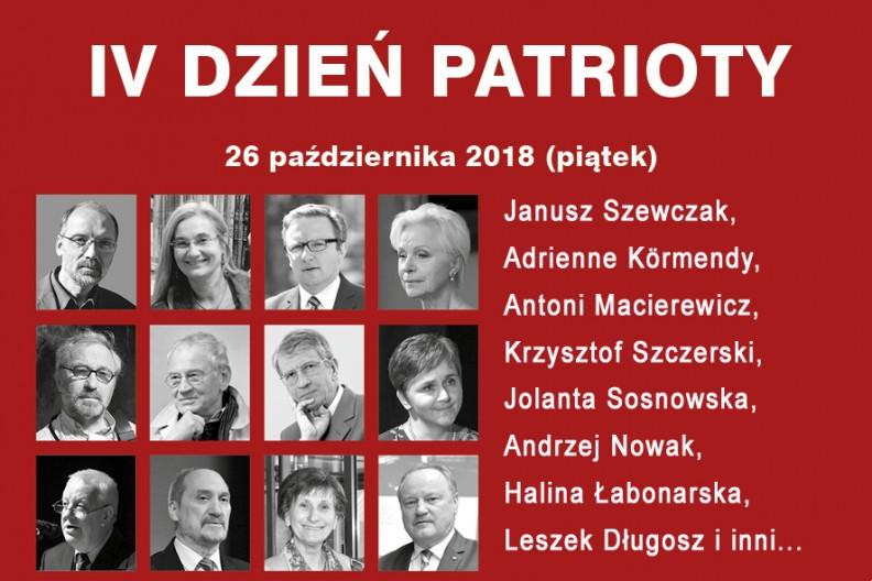 IV Dzień Patrioty w Krakowie, 26 października w sanktuarium Bożego Miłosierdzia w Łagiewnikach.
