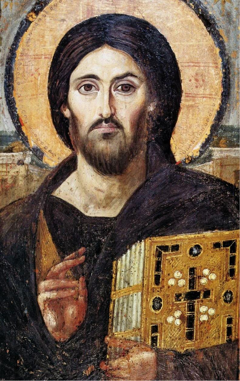 Jezus Pantokrator, ikona z VI w. z klasztoru św. Katarzyny na Synaju.