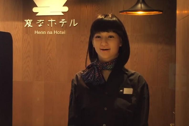 Robot recepcjonistka w Henn Na Hotel Tokyo Ginza  Fot. The Japan Times@YouTube