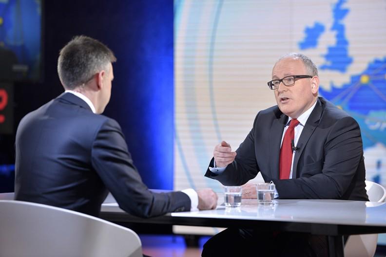Pierwszy Wiceprzewodniczący Komisji Europejskiej Frans Timmermans   Fot. Wikimedia/euranet_plus