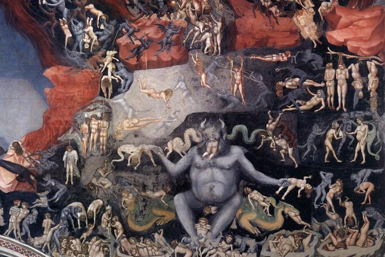 Giotto di Bondone Sąd Ostateczny (fragment)  Fot. Wikimedia