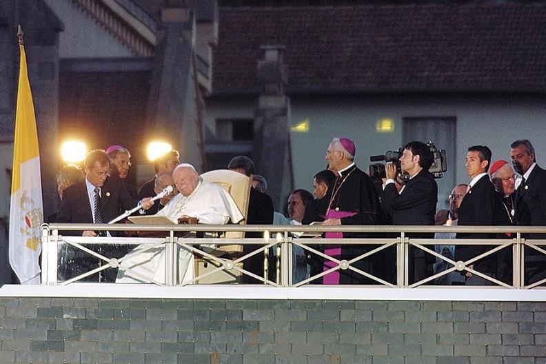 Sierpień 2004 Pielgrzymka Św. Jana Pawła II do Lourdes we Francji.  Fot. Archiwum Białego Kruka