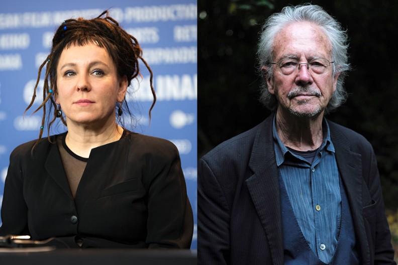 Olga Tokarczuk i Peter Handke  Fot. miesięcznik Wpis
