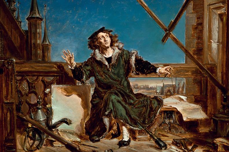 """""""Astronom Kopernik, czyli rozmowa z Bogiem"""" – Jan Matejko. Reprodukcja fot. Muzeum Narodowe w Krakowie"""