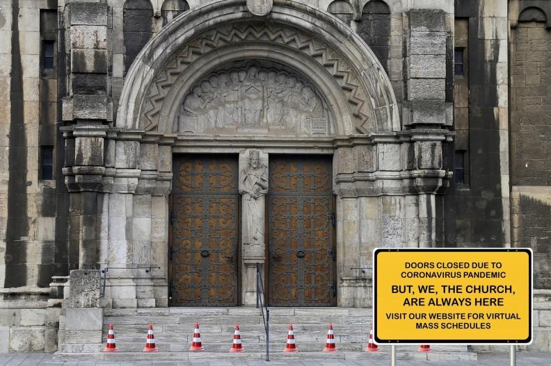 Kościół zamknięty z powodu epidemii. fot. Pixabay