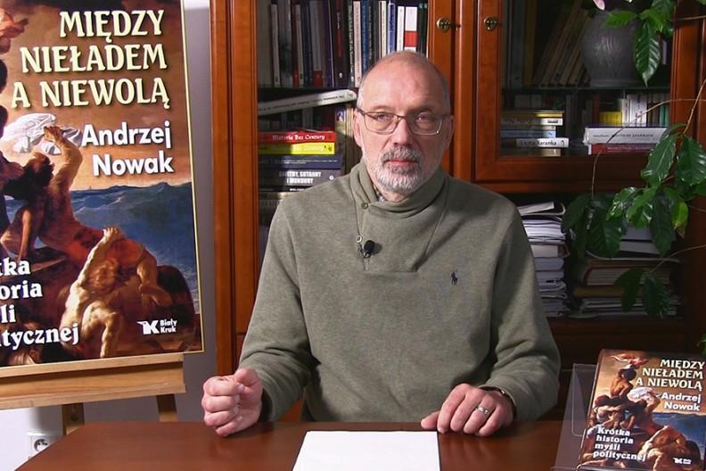 Prof. Andrzej Nowak, autor książki