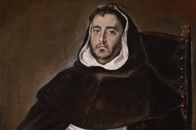 Portret zakonnika autorstwa El Greco. Fot. Wikipedia