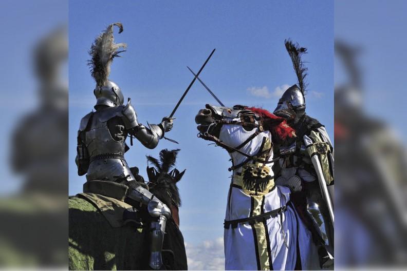 Bitwa pod Grunwaldem doczekała się wielu inscenizacji. fot. Adam Bujak,