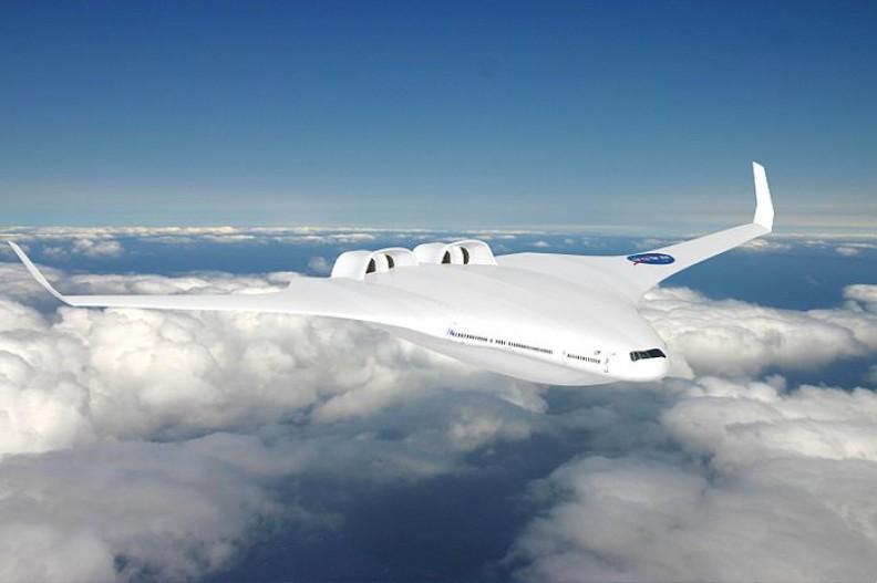 Projekt samolotu hybrydowego zaprezentowany w już 2010 roku przez NASA  Fot.: NASA/MIT/Aurora Flight Sciences/Wikimedia Commons
